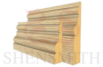 essex profile Pine Skirting Board
