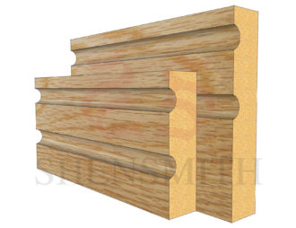 jazz 2 Oak Skirting Board