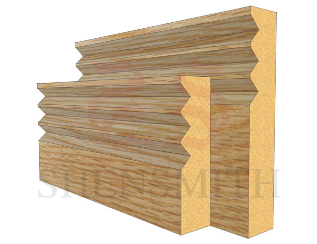 jazz 3 Oak Skirting Board