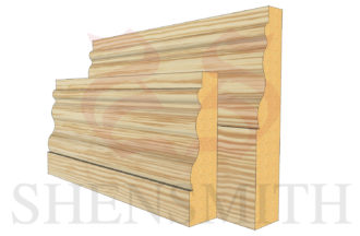 kensington profile Pine Skirting Board