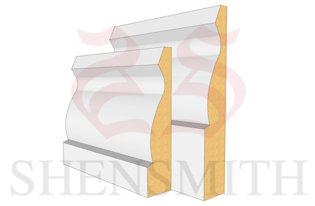 Large Ogee MDF Skirting Board