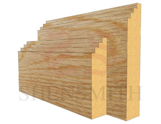 mini steps Oak Skirting Board