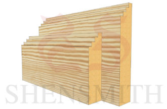 mini steps profile Pine Skirting Board