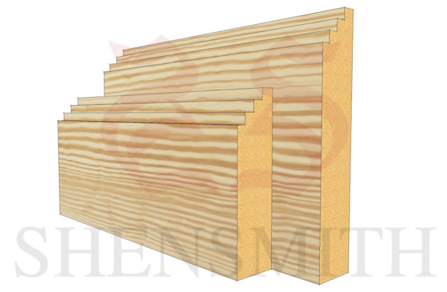 mini steps profile Pine Skirting Board