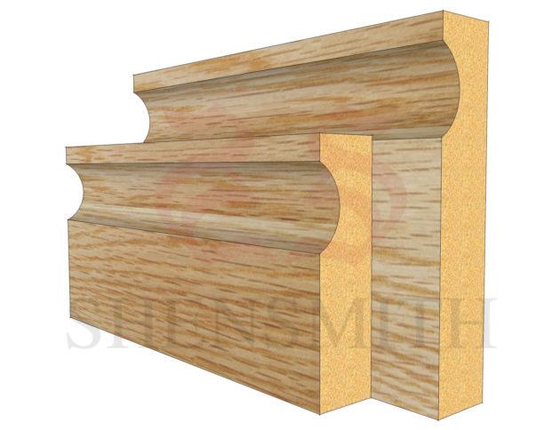 modern Oak Skirting Board