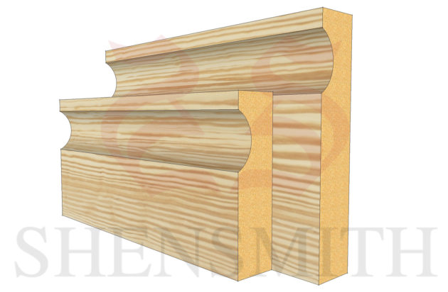 modern profile Pine Skirting Board