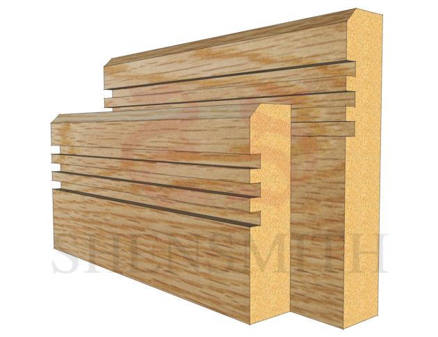 modern 2 Oak Skirting Board
