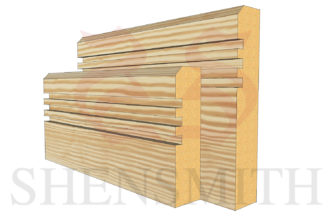 modern 2 profile Pine Skirting Board