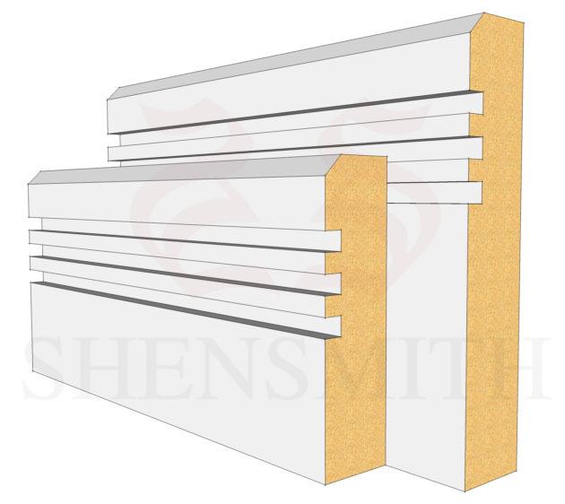 Modern 2 MDF Skirting Board