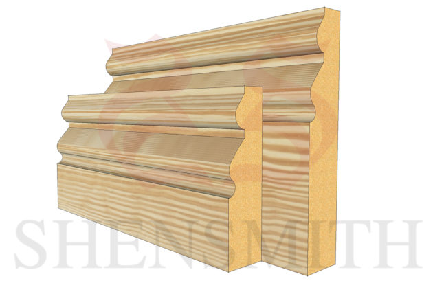 norfolk profile Pine Skirting Board