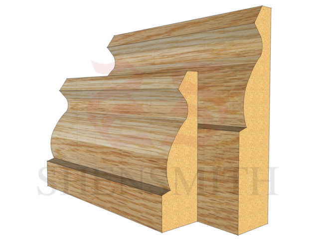 ogee Oak Skirting Board