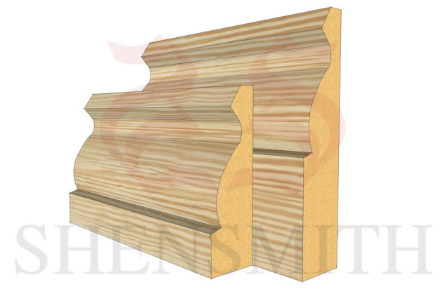 ogee profile Pine Skirting Board