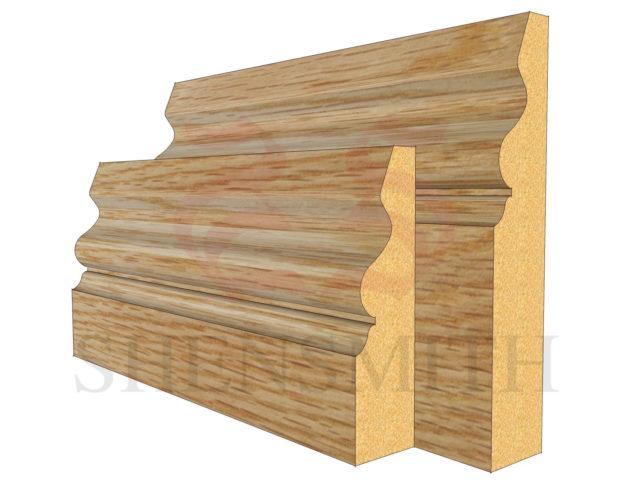 ogee 4 Oak Skirting Board
