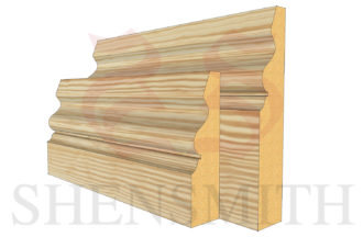 ogee 4 profile Pine Skirting Board