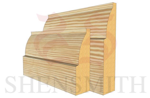 ovolo profile Pine Skirting Board