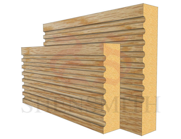 panel Oak Skirting Board
