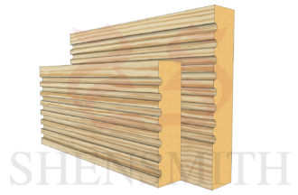 panel profile Pine Skirting Board