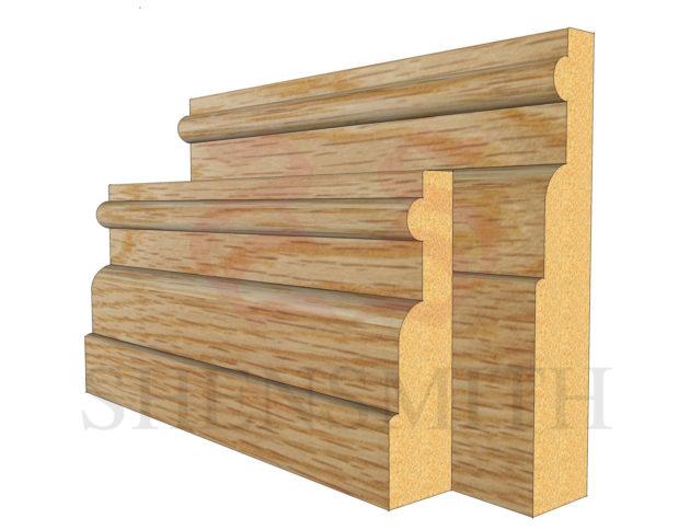 reeded 1 Oak Skirting Board