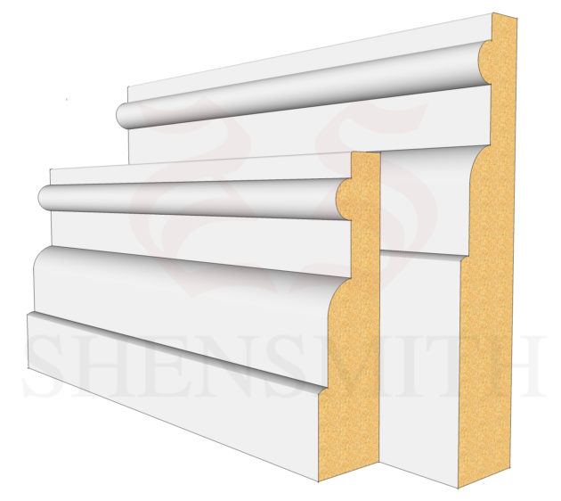Reeded 1 MDF Skirting Board