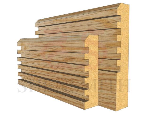 ribbed Oak Skirting Board
