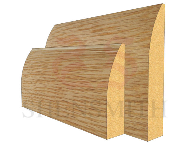 round Oak Skirting Board