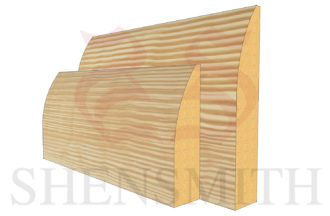 round profile Pine Skirting Board