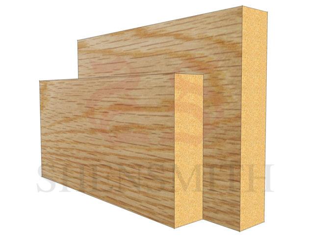 square edge Oak Skirting Board