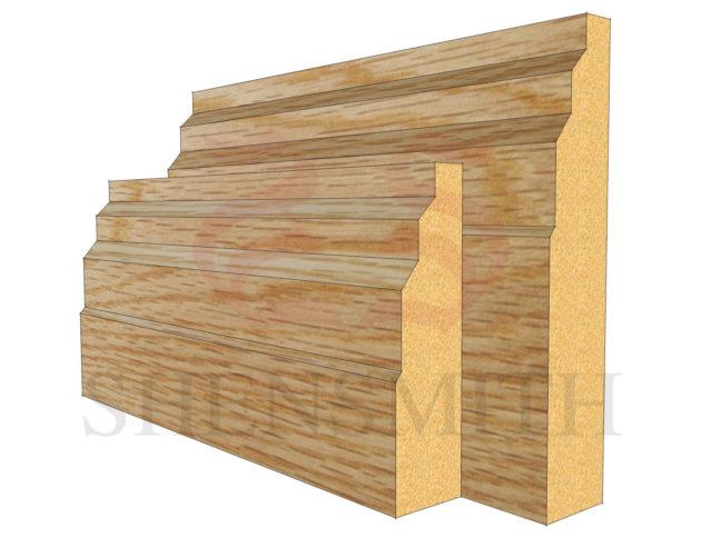 stepped Oak Skirting Board