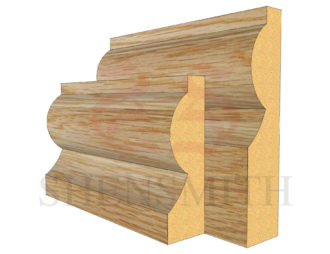 Torus Oak Skirting Board from SkirtingBoards.com