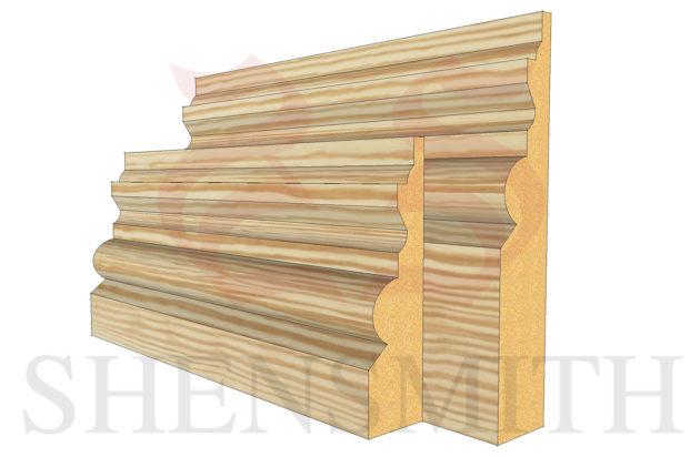 tudor profile Pine Skirting Board