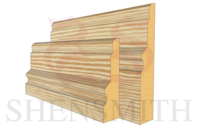 warwick profile Pine Skirting Board