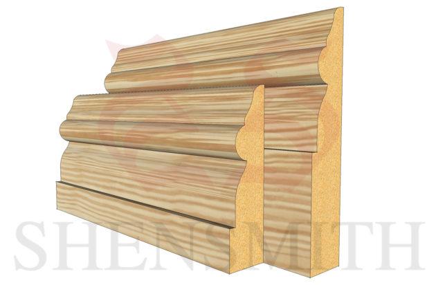 GEORGIAN Pine Skirting Board
