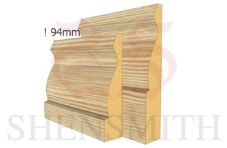 Large Ogee Skirting Board from SkirtingBoards.com Thumb