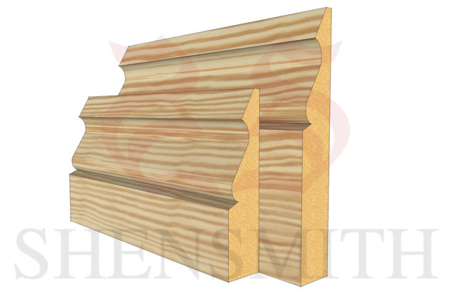Ogee 3 Pine Skirting Board thumb