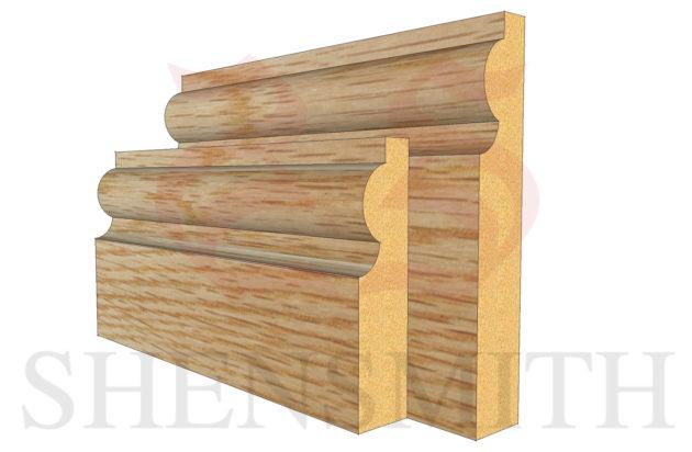 Small Torus Oak Skirting Board