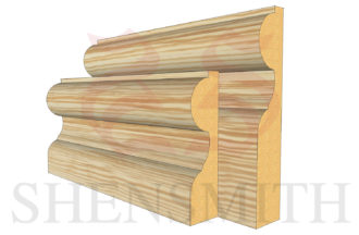 elegance profile Pine Skirting Board