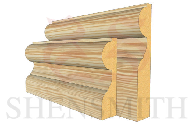 elegance profile Pine Skirting Board