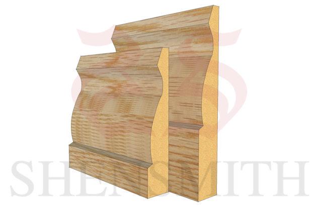 large ogee Oak Skirting Board thumb