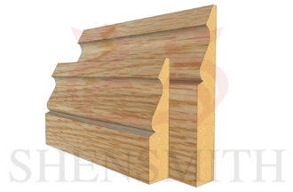 ogee 3 Oak Skirting Board thumb