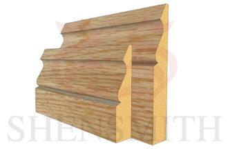 ogee 3 Oak Skirting Board thumb
